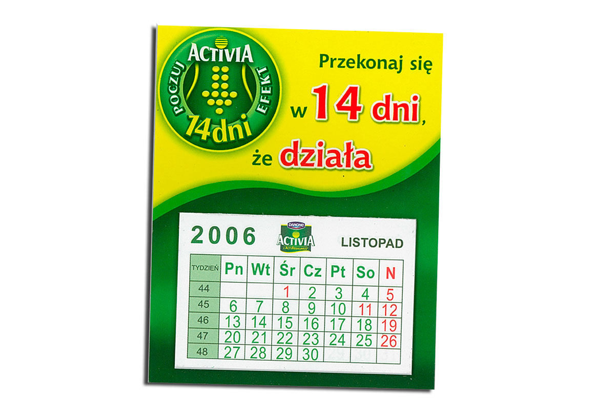 Kalendarze magnetyczne Producent kalendarzy z magnesem