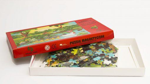 puzzle magnetyczne, układanka magnetyczna, magnes gadżet, folia magnetyczna