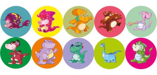 magnesy-okrągłe-dinozaury media-mag