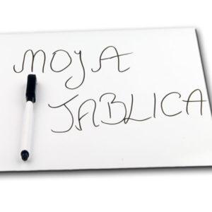 Tablica-magnetyczna-na lodówkę-biała-materiał-na-tablicę-stal