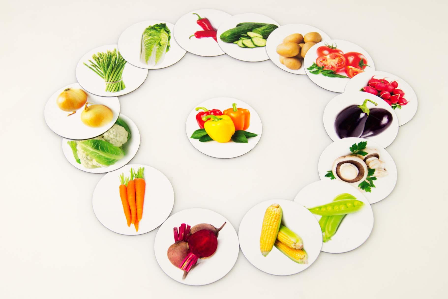 magnesy na lod wk kszta towe tektura warzywa. Black Bedroom Furniture Sets. Home Design Ideas