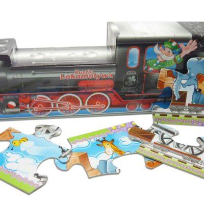 Puzzle lokomotywa duże elementy