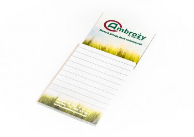 notesy reklamowe, notesy magnetyczne, notesy na lodówkę, notesy z magnesem